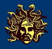 Medusa head  illustration Stock Photos