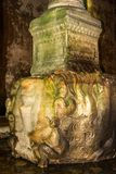 Medusa head, Istanbul, Turkey. Medusa head at the complex of columns and water underground, basilica cistern, Istanbul, Turkey Stock Image