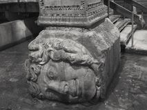 Medusa-Kopf, Basilika-Zisterne Lizenzfreie Stockfotografie