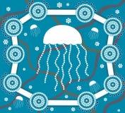 Medusa no estilo da pintura do ponto Imagens de Stock Royalty Free