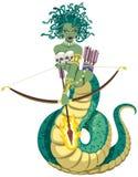 Medusa på vit Arkivbilder