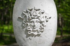 Medusa's head on a shield. Museum-Reserve Tsaritsyno. Royalty Free Stock Images