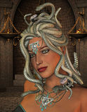 Medusa in the throne room Royalty Free Stock Photo