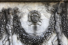 Medusa on a wall sarcophagus Royalty Free Stock Image