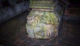 Medusakopf in der Basilikazisterne in Istanbul Lizenzfreie Stockfotografie