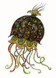 Meduse decorate illustrazione di stock