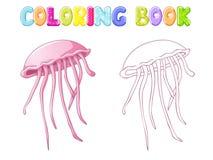Meduse di coloritura illustrazione di stock