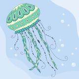Meduse nel mare Illustrazione di Stock