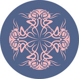 meduse su un fondo blu Siluetta animale Immagine Stock Libera da Diritti