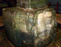 Meduz kolumn bazy bazyliki inside spłuczka Obraz Royalty Free
