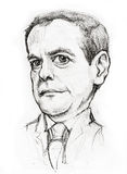 Medvedev caricature Royalty Free Stock Images