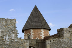 Medvedgrad. Medvedgrad - old town on Medvednica mountain above Zagreb, Croatia Stock Image