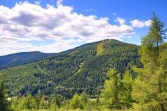Medvedin, γιγαντιαία βουνά (τσέχικα: Krkonose), Riesengebirge, τσέχικα, Polannd στοκ εικόνες