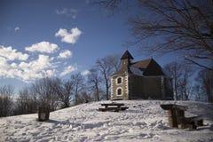 Medvednica的教堂 免版税库存图片