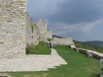 Medvednica fortress. Walls of Medvednica fortress above Zagre capitol of Croatia Stock Photos