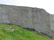 Medvednica wall. Wall of Medvednica fortress Stock Image