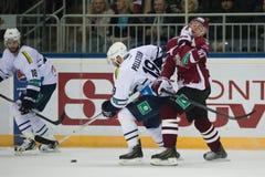 Medvescak Zagreb beats Dinamo Riga 2-1 Stock Photography