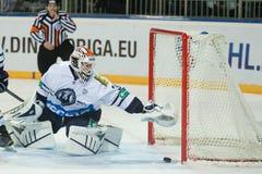 Medvescak Zagreb beats Dinamo Riga 2-1 Stock Photos
