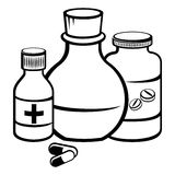 Medycyn butelki Obrazy Royalty Free
