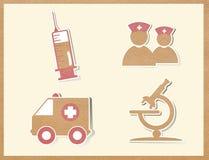 Medycyn ikon papierowy rzemiosło Obrazy Royalty Free
