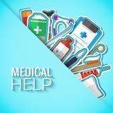 Medycyn płaskie ikony ustawiają pojęcie wektor Zdjęcie Royalty Free