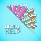 Medycyn płaskie ikony ustawiają pojęcie wektor Zdjęcia Royalty Free