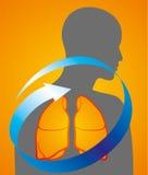 Medycyn płuc opieka ilustracja wektor
