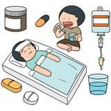 Medycyna i pacjent ilustracji
