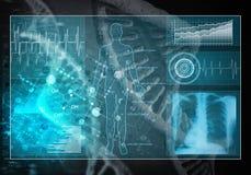 Medycyna interfejs użytkownika, 3D rendering Zdjęcia Stock