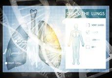 Medycyna interfejs użytkownika, 3D rendering Fotografia Stock