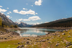 Medycyna jezioro, Alberta, Kanada obrazy royalty free