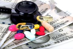 Medycyna koszty Fotografia Stock