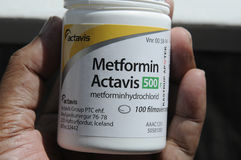 MEDYCYNA METFORMIN ACTAVIS Zdjęcie Royalty Free