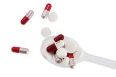 Medycyna nad jedzeniem Zdjęcie Stock