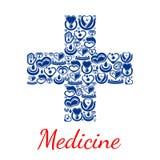 Medycyna plakat przecinający symbolu wektoru serca ilustracja wektor