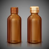 Medycyna syropu butelka Fotografia Royalty Free
