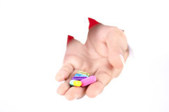 Medycyna w ręce Fotografia Royalty Free