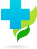 Medycyny i natury ikona logo/ royalty ilustracja