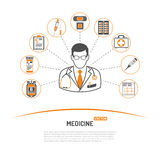 Medycyny i opieki zdrowotnej infographics Fotografia Stock
