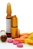Medycyny w pastylkach i kapsułach Zdjęcie Royalty Free