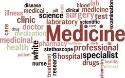 medycyny wordcloud Zdjęcie Stock