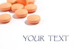 medyczna kapsuły pomarańcze zdjęcia stock