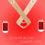 medyczna krwionośna tło darowizna Obrazy Royalty Free
