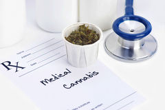 Medyczna marihuana Fotografia Royalty Free