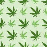Medyczna marihuana, bezszwowy wzór, prezenta opakunkowy papier ilustracji