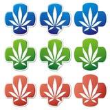 medyczna marihuana naklejki wizowej ilustracja wektor