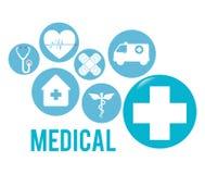 Medyczna opieki zdrowotnej grafika royalty ilustracja