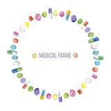 Medyczna rama ilustracja wektor