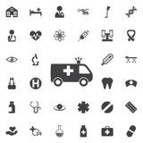 Medyczna Samochodowa ikona ilustracji