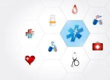 medyczna symbolu diagrama sieć kształty Zdjęcie Royalty Free